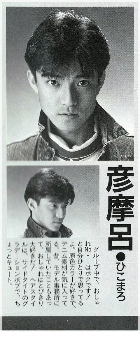 彦摩呂 若い時のアイドル時代の痩せている写真